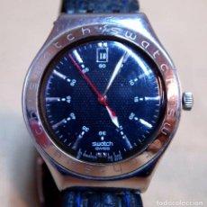 Relojes - Swatch: VINTAGE RELOJ SWATCH IRONY, CORREA DE PIEL, AG 2002, ACERO, FUNCIONA. Lote 84787044