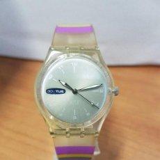 Relojes - Swatch: RELOJ DE PULSERA SWATCH MAQUINA VISTA DE CUARZO FUNCIONANDO PARA SU USO DIARIO, CRISTAL SIN RAYAS. Lote 88351016