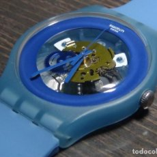 Relojes - Swatch: RELOJ SWATCH BLUE GREY LACQUERED SUON102. Lote 126992919