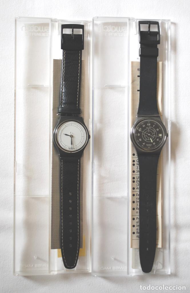 LOTE DE 2 RELOJES SWATCH VINTAGE DE CABALLERO PARA COLECCIÓN (VER FOTOS ADICIONALES) (Relojes - Relojes Actuales - Swatch)