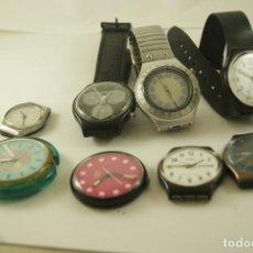 Relojes - Swatch: LOTE DE 8 SWATCH QUARTZ, POP, SWISS....Q18. Lote 103373855