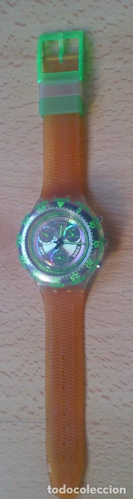 RELOJ DE COLECCIÓN WATCH SWATCH SCUBA AG CHRONO PLÁSTICO VERDE (Relojes - Relojes Actuales - Swatch)