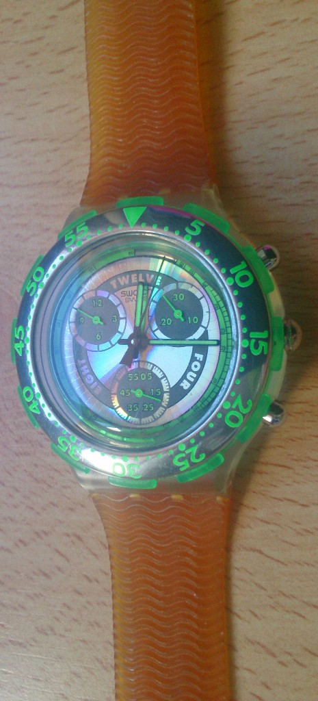 Relojes - Swatch: Reloj de colección Watch Swatch Scuba AG Chrono plástico verde - Foto 2 - 105168555