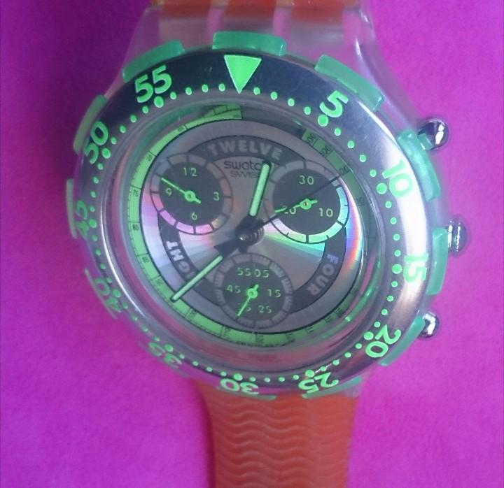 Relojes - Swatch: Reloj de colección Watch Swatch Scuba AG Chrono plástico verde - Foto 4 - 105168555