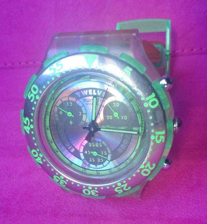 Relojes - Swatch: Reloj de colección Watch Swatch Scuba AG Chrono plástico verde - Foto 5 - 105168555