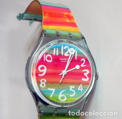 RELOJ DE PULSERA - SWATCH - #009 - ALEGRES COLORES - ALEGRE DISEÑO - FUNCIONA - MÁQUINA (Relojes - Relojes Actuales - Swatch)