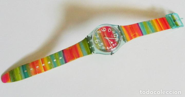 Relojes - Swatch: RELOJ DE PULSERA - SWATCH - #009 - ALEGRES COLORES - ALEGRE DISEÑO - FUNCIONA - MÁQUINA - Foto 4 - 106415627