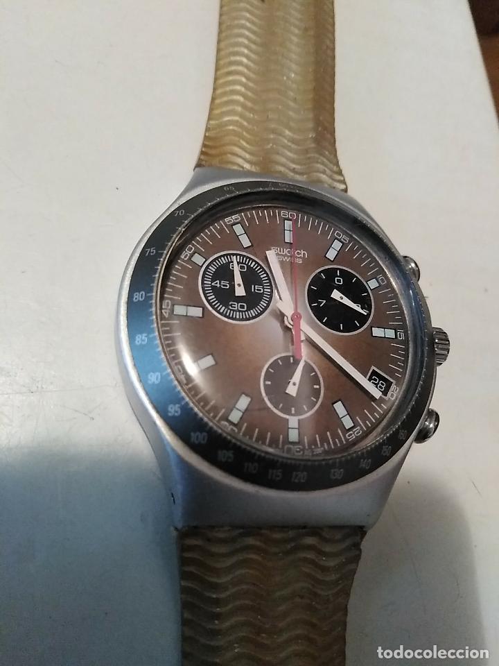Relojes - Swatch: RELOJ SWATCH IRONY ALUMINIUM cronógrafo funcionando - Foto 5 - 110810035