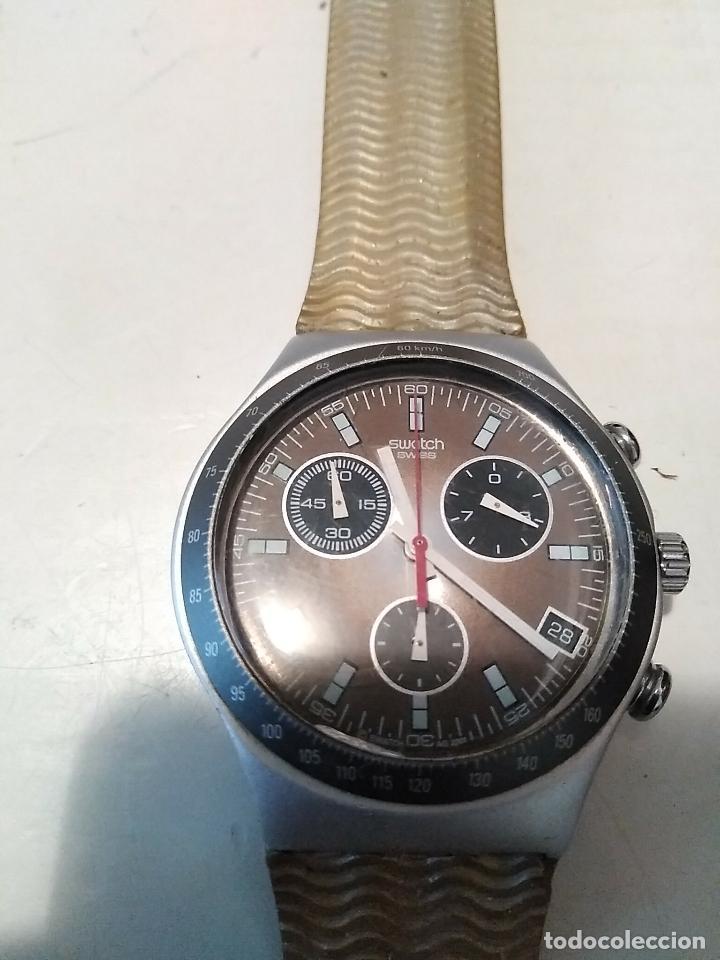 Relojes - Swatch: RELOJ SWATCH IRONY ALUMINIUM cronógrafo funcionando - Foto 6 - 110810035