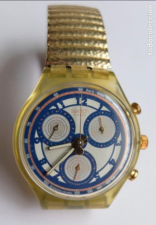 RELOJ SWATCH, SIN PILA, PERO FUNCIONA BIEN, CORREA METÁLICA (Relojes - Relojes Actuales - Swatch)