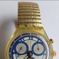Relojes - Swatch: RELOJ SWATCH, SIN PILA, PERO FUNCIONA BIEN, CORREA METÁLICA. Lote 113509263