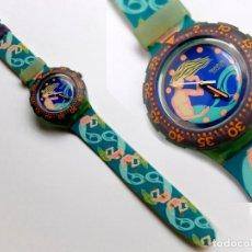 Relojes - Swatch: RELOJ SWATCH, SIN PILA, PERO FUNCIONA BIEN, CORREA PLÁSTICO. Lote 113511239
