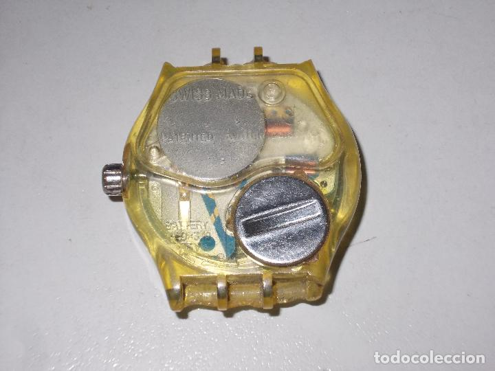 Relojes - Swatch: Reloj Swatch musical Swiss made, sin probar, para piezas. Tiene rotos los soportes de la correa - Foto 3 - 114525071