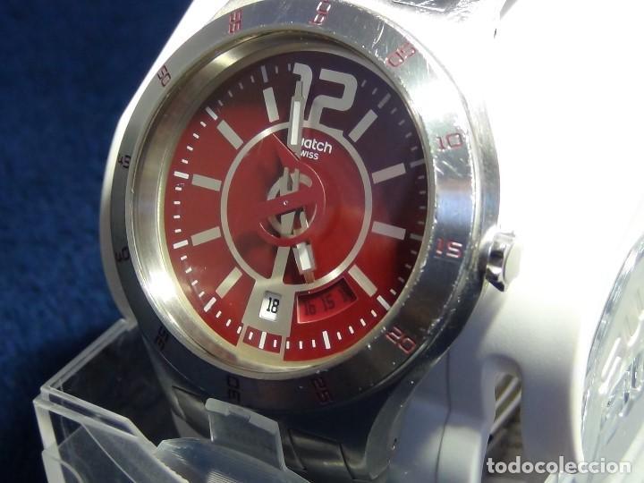 Relojes - Swatch: Reloj SWATCH IN A BURGUNDY MODE YTS405G - Con caja e instrucciones - Foto 2 - 115389547