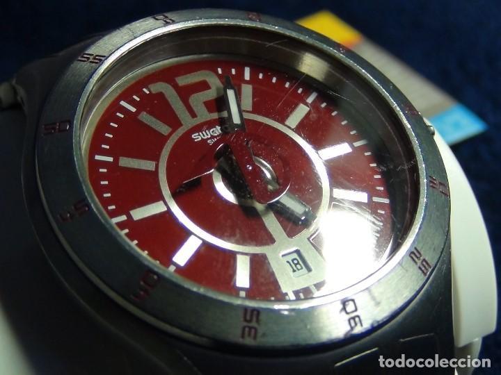 Relojes - Swatch: Reloj SWATCH IN A BURGUNDY MODE YTS405G - Con caja e instrucciones - Foto 3 - 115389547