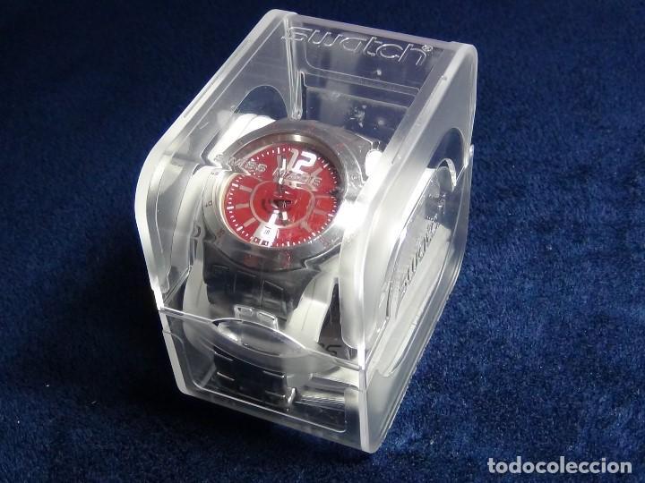 Relojes - Swatch: Reloj SWATCH IN A BURGUNDY MODE YTS405G - Con caja e instrucciones - Foto 4 - 115389547