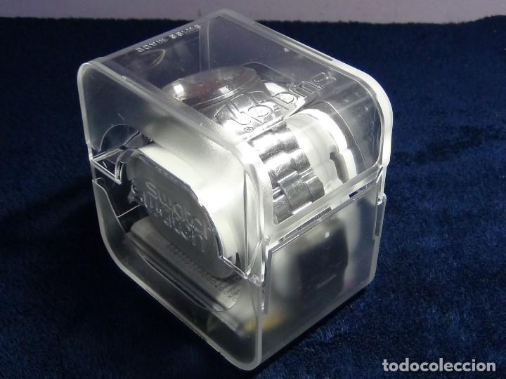 Relojes - Swatch: Reloj SWATCH IN A BURGUNDY MODE YTS405G - Con caja e instrucciones - Foto 6 - 115389547