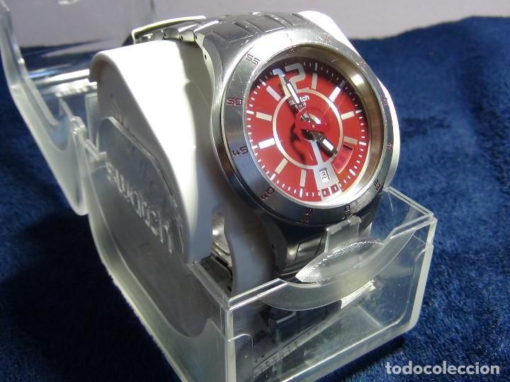 Relojes - Swatch: Reloj SWATCH IN A BURGUNDY MODE YTS405G - Con caja e instrucciones - Foto 10 - 115389547