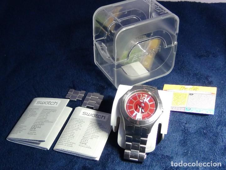 Relojes - Swatch: Reloj SWATCH IN A BURGUNDY MODE YTS405G - Con caja e instrucciones - Foto 21 - 115389547