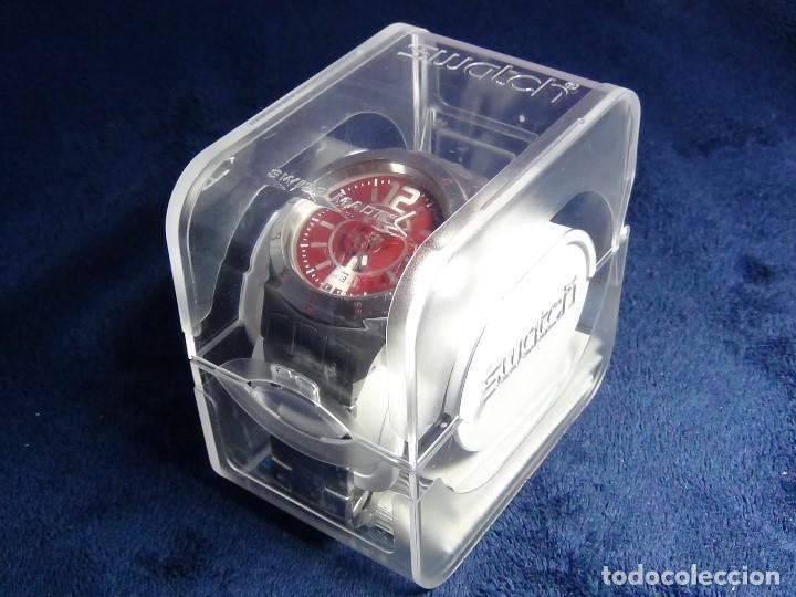 Relojes - Swatch: Reloj SWATCH IN A BURGUNDY MODE YTS405G - Con caja e instrucciones - Foto 27 - 115389547