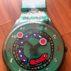 Relojes - Swatch: RELOJ MAXI WALL SWATCH RELOJ PARED XXL MODELO CRAZY TRAIN GIGANTE ENVÍO 4€. Lote 118504323