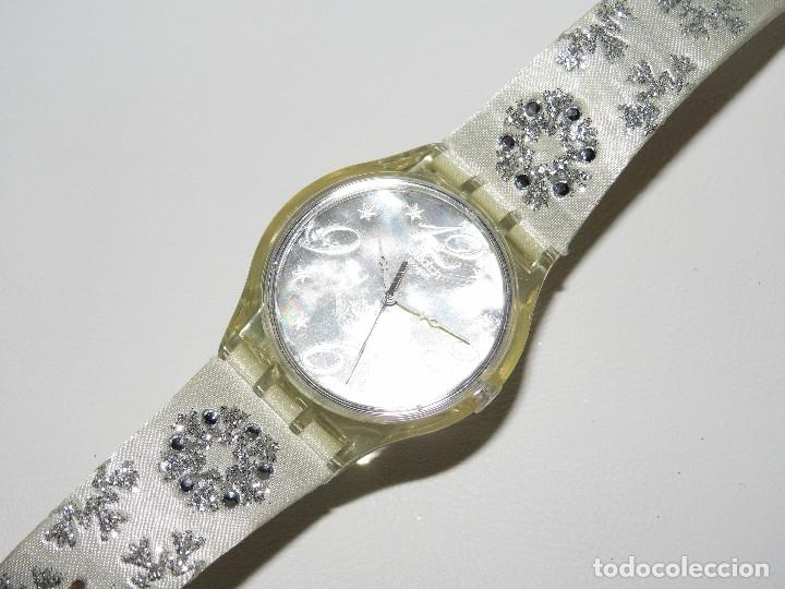 Relojes - Swatch: SWATCH ESPECIAL NAVIDAD 2006 SUJZ-100-S ARTIC TOUCH - Foto 2 - 118733675