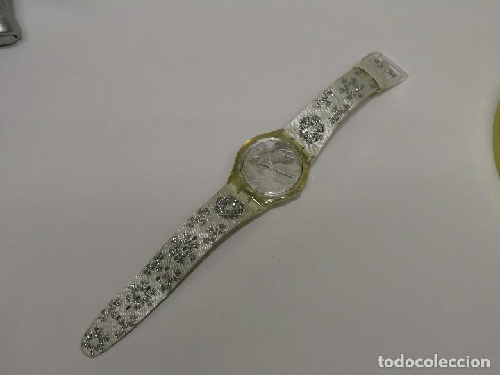 Relojes - Swatch: SWATCH ESPECIAL NAVIDAD 2006 SUJZ-100-S ARTIC TOUCH - Foto 9 - 118733675