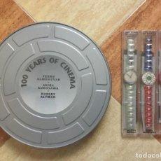 Relojes - Swatch: CAJA 3 RELOJES EDICIÓN LIMITADA ESPECIAL COLECCIONISTAS SERIE 100 YEARS OF CINEMA - SWATCH 1995. Lote 118844791