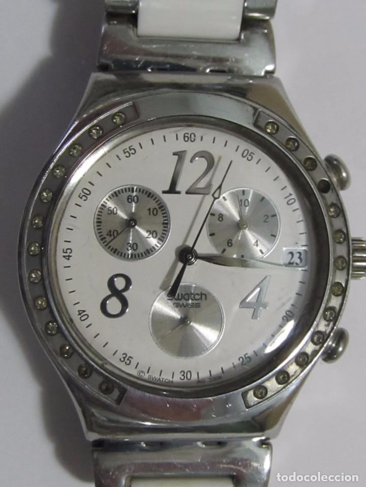 RELOJ CRONÓGRAFO SWATCH DE CUARZO, CON CORREA ORIGINAL (Relojes - Relojes Actuales - Swatch)