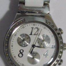 Relojes - Swatch: RELOJ CRONÓGRAFO SWATCH DE CUARZO, CON CORREA ORIGINAL. Lote 127574955