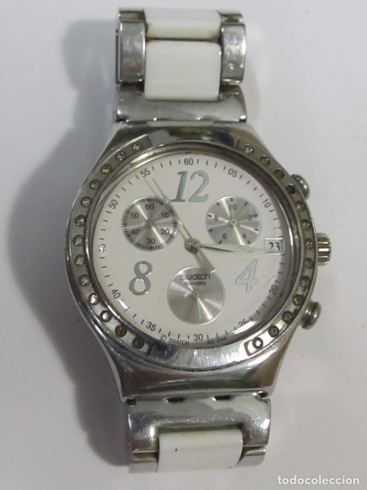 Relojes - Swatch: RELOJ CRONÓGRAFO SWATCH DE CUARZO, CON CORREA ORIGINAL - Foto 2 - 127574955