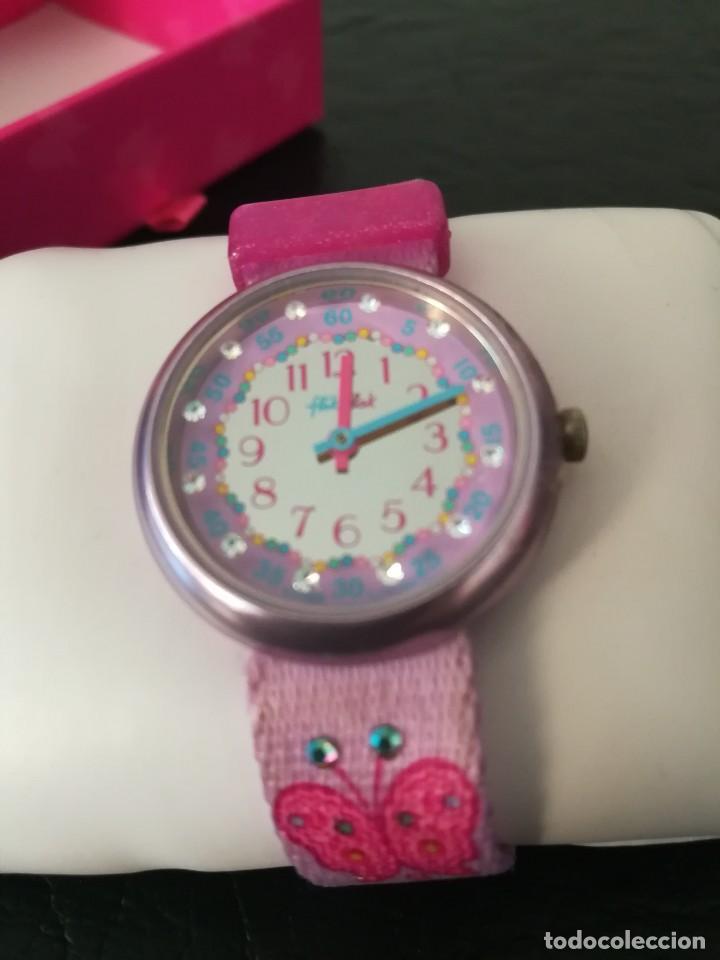 Relojes - Swatch: RELOJ FLIK FLAK (SWATCH infantil) con estuche joyero original - Foto 3 - 127582331