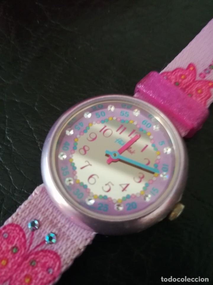 Relojes - Swatch: RELOJ FLIK FLAK (SWATCH infantil) con estuche joyero original - Foto 5 - 127582331
