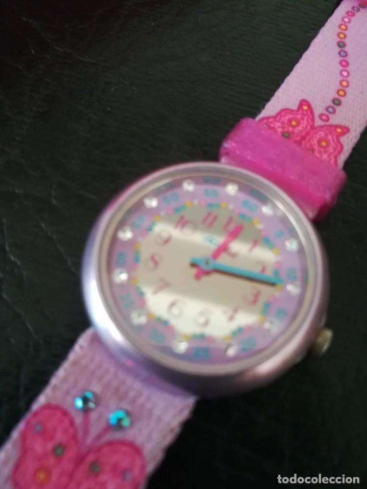 Relojes - Swatch: RELOJ FLIK FLAK (SWATCH infantil) con estuche joyero original - Foto 7 - 127582331