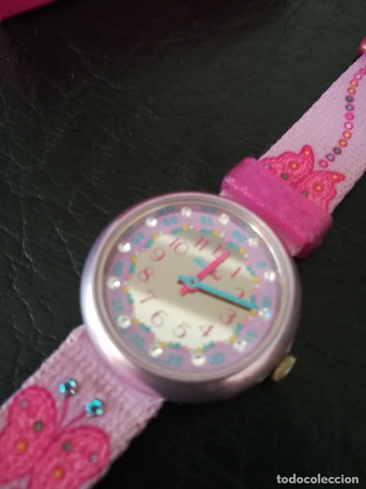 Relojes - Swatch: RELOJ FLIK FLAK (SWATCH infantil) con estuche joyero original - Foto 8 - 127582331