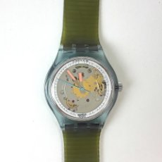 Relojes - Swatch: RELOJ SWATCH BLUE MATIC SAN 100. SUIZA. 1991.. Lote 127615819