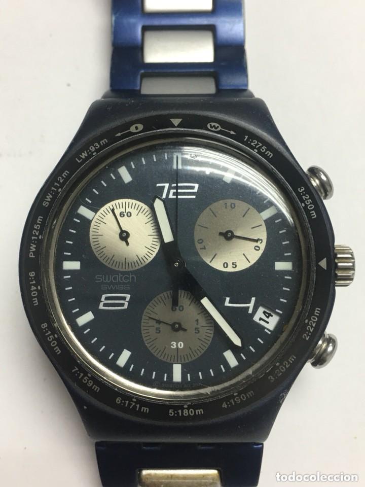 RELOJ SWATCH IRONI ALUMINIUN CRONOGRAFO SUIWS,TODO ORIGINAL (Relojes - Relojes Actuales - Swatch)
