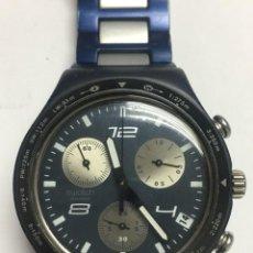 Relojes - Swatch: RELOJ SWATCH IRONI ALUMINIUN CRONOGRAFO SUIWS,TODO ORIGINAL. Lote 127642475