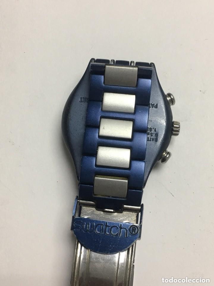 Relojes - Swatch: reloj swatch ironi aluminiun cronografo suiws,todo original - Foto 4 - 127642475