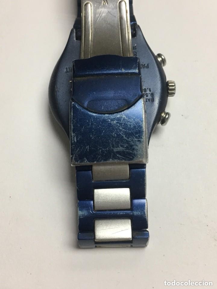 Relojes - Swatch: reloj swatch ironi aluminiun cronografo suiws,todo original - Foto 6 - 127642475