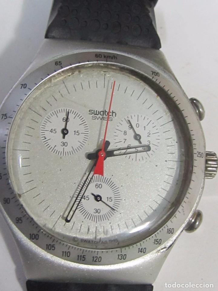 RELOJ CRONÓGRAFO SWATCH IRONY DE CUARZO, EN SU ESTUCHE (Relojes - Relojes Actuales - Swatch)
