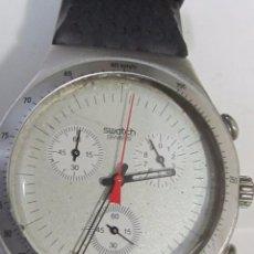 Relojes - Swatch: RELOJ CRONÓGRAFO SWATCH IRONY DE CUARZO, EN SU ESTUCHE. Lote 127933995