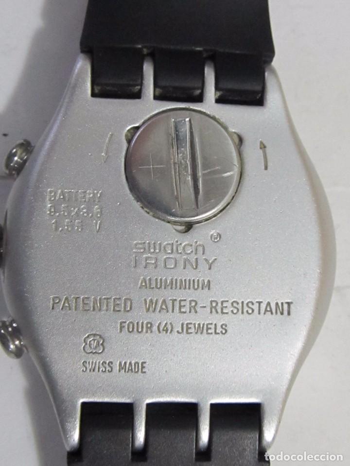 Relojes - Swatch: RELOJ CRONÓGRAFO SWATCH IRONY DE CUARZO, EN SU ESTUCHE - Foto 2 - 127933995