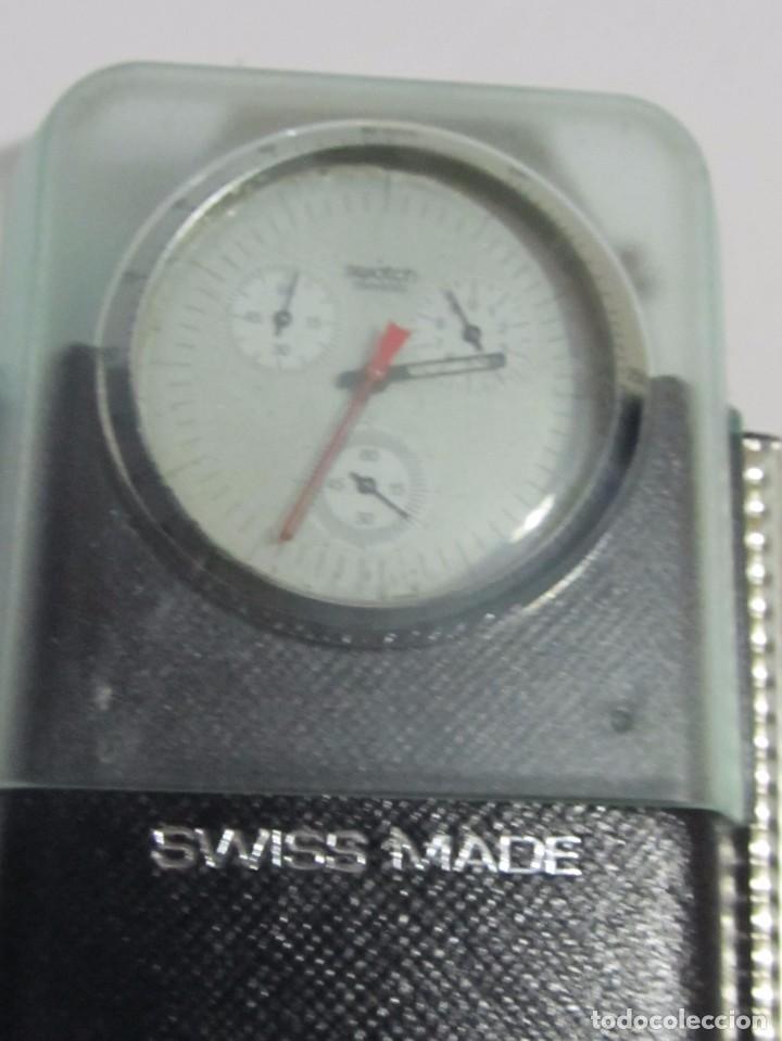 Relojes - Swatch: RELOJ CRONÓGRAFO SWATCH IRONY DE CUARZO, EN SU ESTUCHE - Foto 3 - 127933995