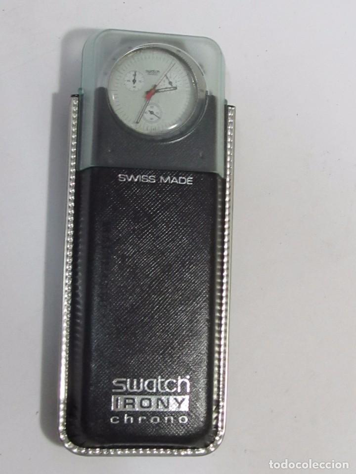 Relojes - Swatch: RELOJ CRONÓGRAFO SWATCH IRONY DE CUARZO, EN SU ESTUCHE - Foto 5 - 127933995