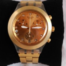 Relojes - Swatch: RELOJ SWATCH IRONY DIAPHANE, CRONÓGRAFO, CALENDARIO.. Lote 128089187