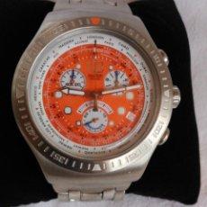 Relojes - Swatch: RELOJ SWATCH IRONY, ACERO INOXIDABLE, CRONÓGRAFO, CALENDARIO.. Lote 128089259