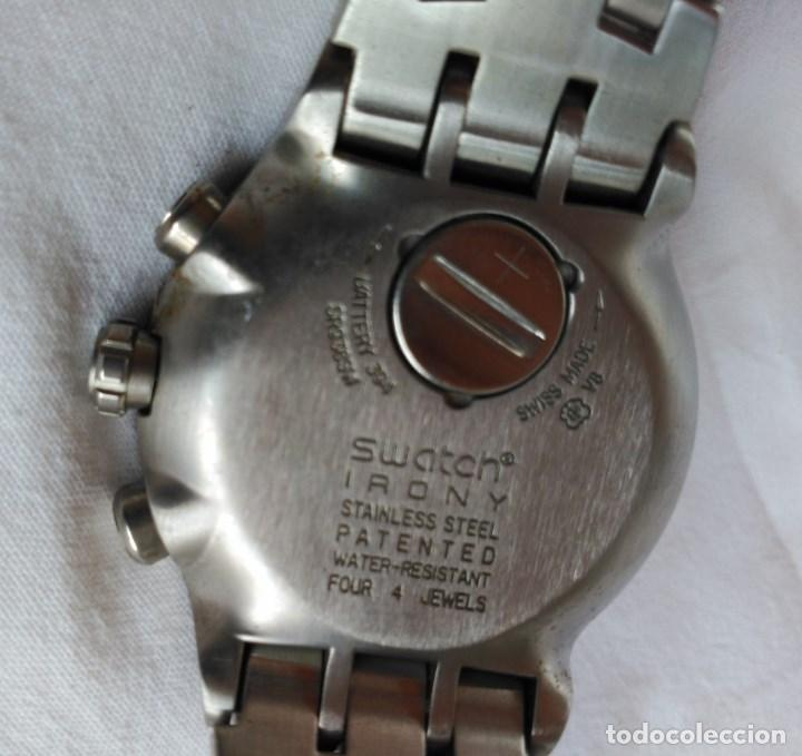Relojes - Swatch: RELOJ SWATCH IRONY, ACERO INOXIDABLE, CRONÓGRAFO, CALENDARIO. - Foto 2 - 128089259
