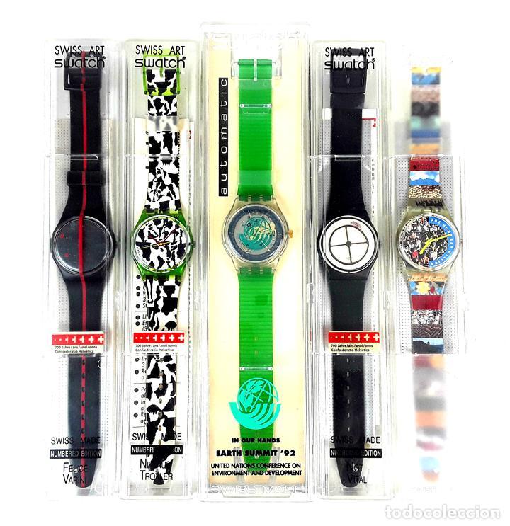 LOTE DE 5 RELOJES SWATCH. SUIZA. 1991-1992. (Relojes - Relojes Actuales - Swatch)