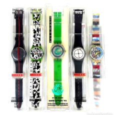Relojes - Swatch: LOTE DE 5 RELOJES SWATCH. SUIZA. 1991-1992.. Lote 128453051